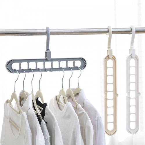 Pack Of 5 Rotate Anti-skid Folding Hanger Portable Hanging For Home Wet Dry Clothes