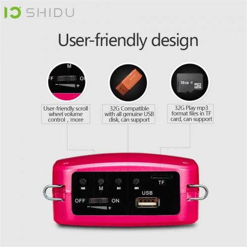 SHIDU S512 15W Voice Amplifier Wired Microphone Portable Full Range Audio Sound Speaker