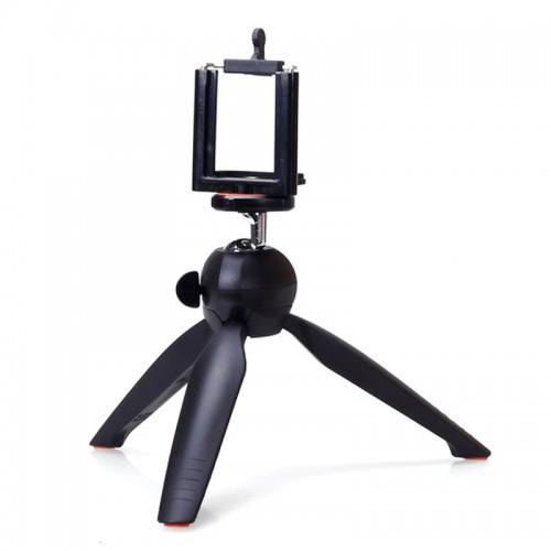 Mini Phone Tripod Tabletop Smartphone Mount Clip Holder Stand Ballhead For Phone