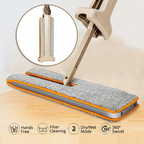 Self Wringing Double Sided Flat Magic Mop Hand Push Sweepers Hard Floor Cleaner Comfortable Clean Tool