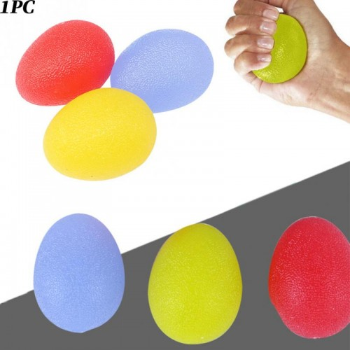 Silicone Egg Massage Hand Gripper Strengths Stress Relief Power Ball Forearm Finger Exercise Fitness Accessories