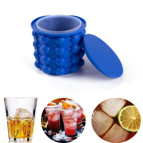 Small Size Silicone Ice Maker Fast Cold Ice Bucket Ice Storage Cube Maker Tools For Kitchen