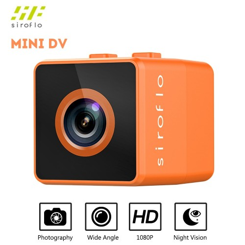 Siroflo Mini DV Action Camcorders Camera 1080P 30 FPS 125 Degree Angle