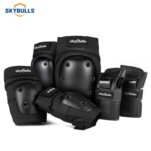 6pcs/set Cycling Skating Protective Gear Pads Knee Elbow Pads Wrist Guards Outdoor Safety Protector