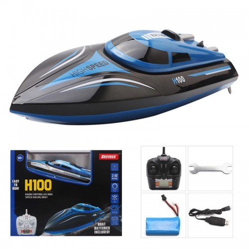 H100 Radio RC Racing Boat 2.4GHz 4CH High Speed Boat With LCD