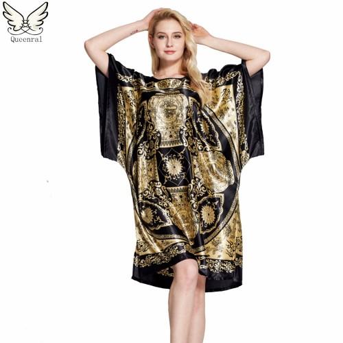 Silk Sleepwear Nightgown Clothing  Robe Nightwear