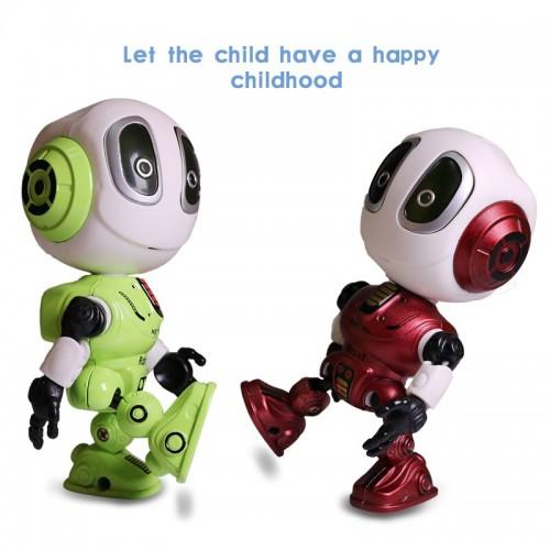 Smart Talking Robot Toys Touch-Sensitive Sound & Light  Alloy Robot DIY Figure For Children