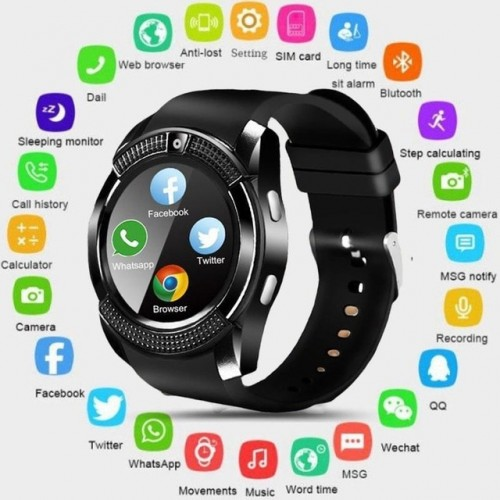 Phone Smart Watch Touch Screen Wrist Watch With Camera Slot Waterproof