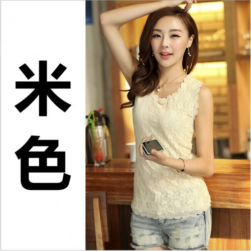 Womens Lace Shirt Blouse Slim Casual Tops Tees