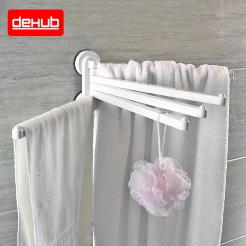 Suction cup Towel Holder Rotating Towel Rack Bathroom Kitchen Towel Plastic Rack Holder