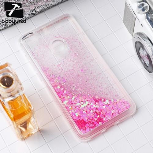 Huawei P8 Lite Dynamic Liquid Glitter Quicksand Soft TPU Back Cover