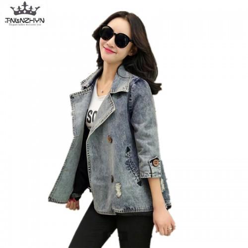 Spring Fall Girls Womens Loose Casual Denim Winter Jacket Coats Outerwear