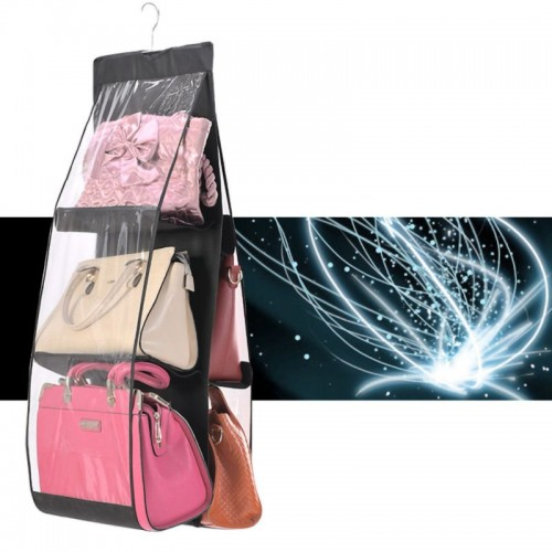 Thick Double-sided Six Grid Storage Bag Multi functional Hanging Bag