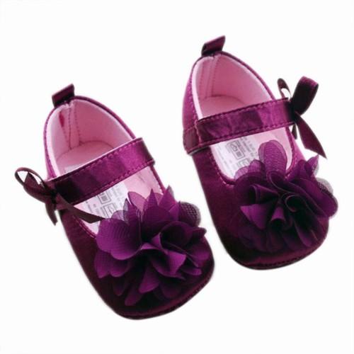 Chiffon Flower Elastic Band Baby Sandals 6-12 Months