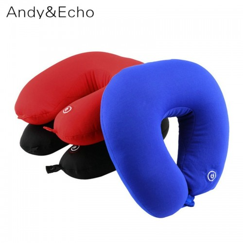 U Shaped Travel Pillow For Airplane Comfortable Vibration Battery Operated