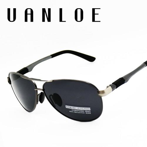 Classic Polarized Sunglasses Fashion Brand Designer High Quality Vintage Twin Beam Glass Frame