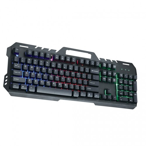 GT-5 Metal Back Light Gaming Keyboard Rainbow Backlight Suspended Key Press