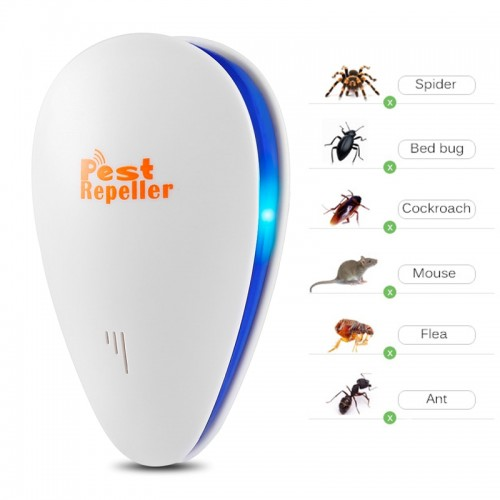 4 Pieces Ultrasonic Electronic Pest Repeller Repels Mice Bed Bugs Mosquitoes Spiders Mouse Pest Control