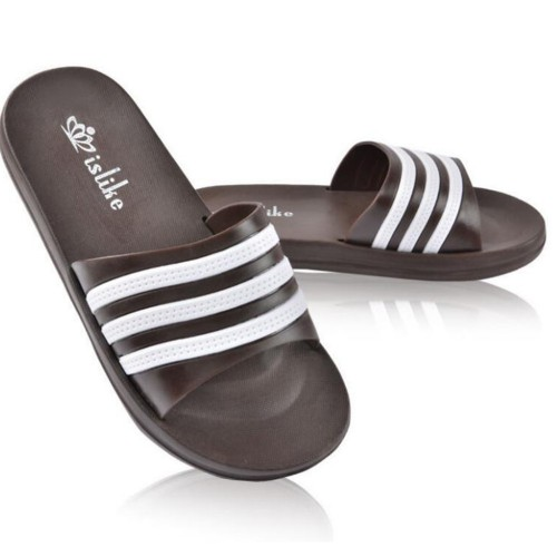 Unisex New Fashion Summer Casual Three Stripe Outdoor Slippers