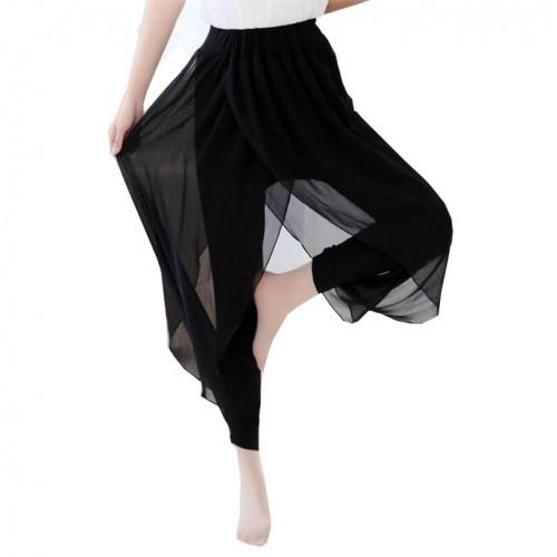 Women Hippie Baggy Harem Pants Chiffon Trousers Loose Casual Cozy Soft Comfortable Hip Hop Trousers