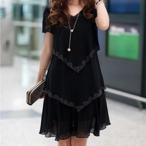 Women Chiffon Vestido Dress
