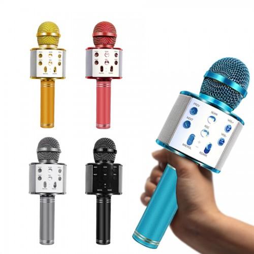 WS-858 Bluetooth Wireless Microphone Handheld Karaoke Mic USB Mini Home KTV