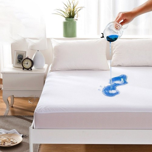 King Size Waterproof Mattress Cover Cotton Terry Fitted Sheet Protector Bedsheet