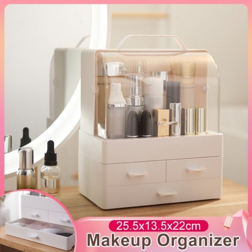 Waterproof Dust Proof Transparent Makeup Jewelry Box Cosmetic Organizer Drawer Home Storage