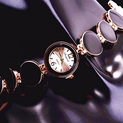 Women Watch Ladies Nobler Fashion Casual 5 Colors Wafer Design Round Dial Bracelet Watch Mujor Quartz Wristwatch