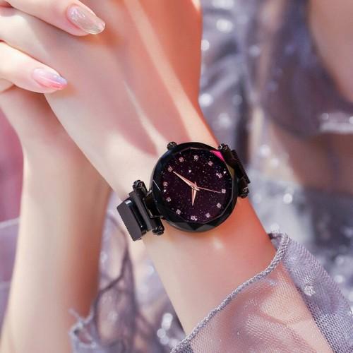 Luxury Women Watch Fashion Elegant Magnet Buckle Vibrato Ladies Wrist Watch Quartz