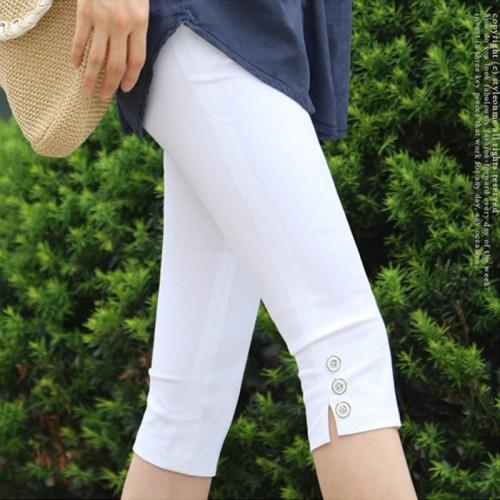 Womens Summer Slim Waist Stretch Fashion Pencil Crops Capris