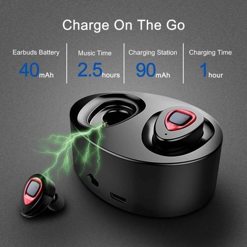 XIAOWU K5 In-Ear Earphone Wireless Bluetooth Earbuds With Mic/Ear Hook /Charging Box