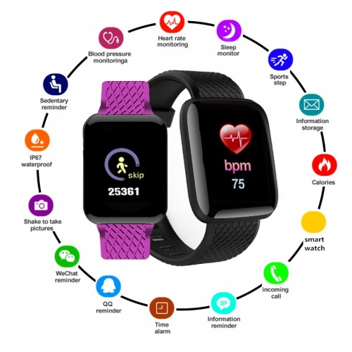 D13 Smart Watch Men Sport Heart Rate Tracker Fitness Bracelet Women For IOS Android Smartband