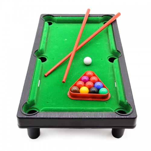 One Set Simulation Kids Mini Snooker Billiards Table Game