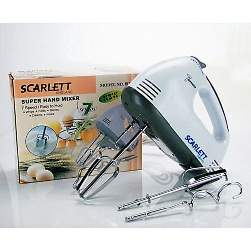 Electric Hand Mixer Machine With 7 Speed Hand Held Food Beater