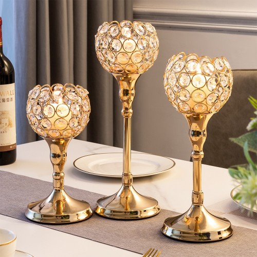 3Pcs Modern Home Wedding Centerpiece Glass Candle Holder Home Decoration