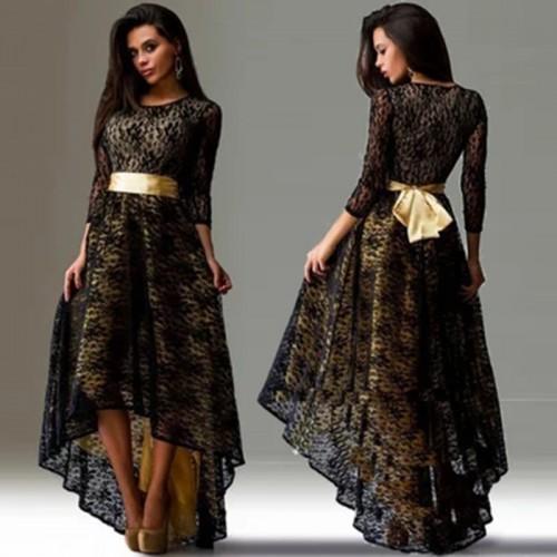 Women Maxi Long Vintage Dress Lace Party Dress Elegant Evening Slim Bodycon Dress