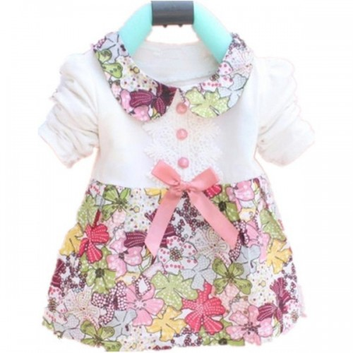 Baby Girls Floral Kids Dress White
