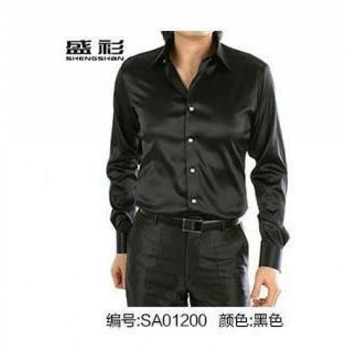 Long Sleeve Casual Silk Men Shirt