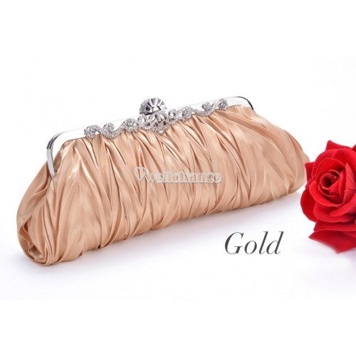 Beautiful Satin Clutch for Party and Wedding