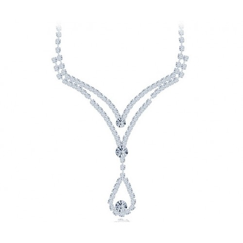 Stunning silver jewelry necklaces set