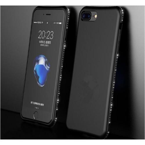 Black MaxGear Rhinestone Silicone Case Glitter Matte Luxury Diamond Cover For iPhone