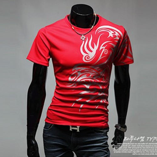 Mens Short Sleeve Red T-Shirt