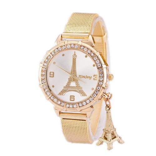 Beautiful Tower Gold Rhinestone Watch