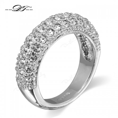 Cubic Zirconia Rose Gold/Platinum Plated Beautiful Ring