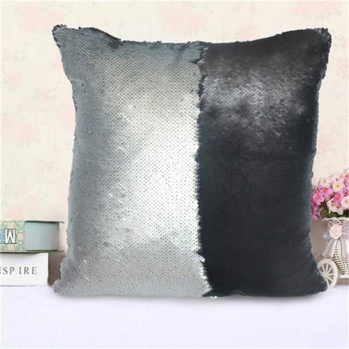 Mermaid Sequin Cushion Cover Magical Shining Pillow Case Patchwork Decorative Sofa Car Fashion 40X40cm