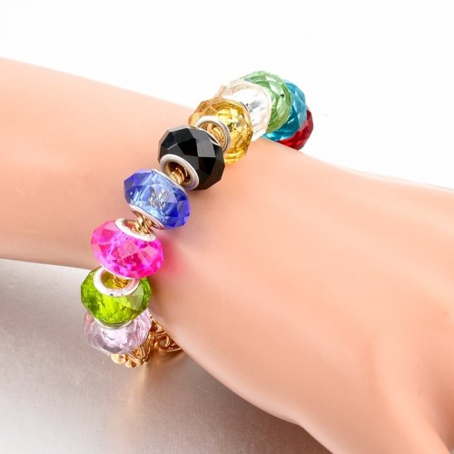 Pandora Bracelet With Heart Charms Beads Multicolor 1