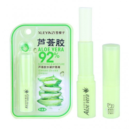 100% Pure Natural Aloe Plant Lip Balm Transparent Moisturizer Anti Cracking Lip Repair