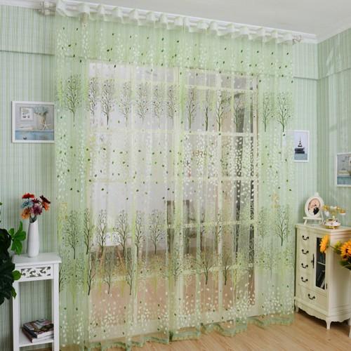 Transparent Green Shower Curtains