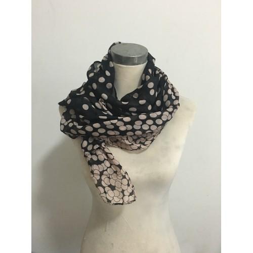 Fashion Dots Women Large Long Voile Scarves Shawls Wraps Foulard Femme 165*80cm